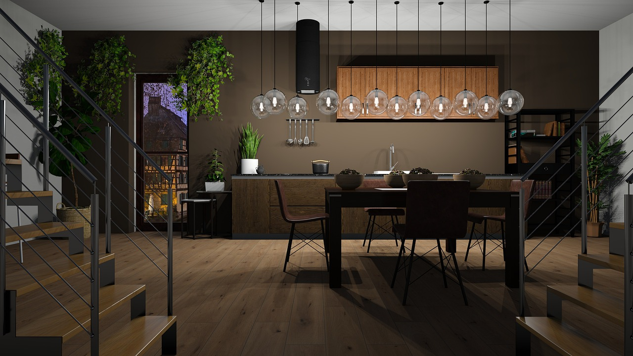 Oświetlenie do jadalni – dwie lampy nad stołem