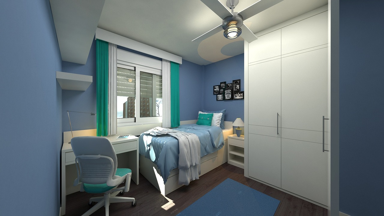 Oświetlenie pokoju nastolatka.